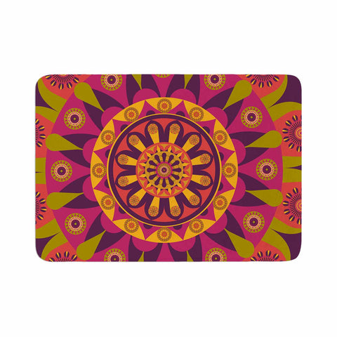 "afe images ""Mandala Design"" Multicolor Modern Ethnic Digital Illustration Memory Foam Bath Mat"