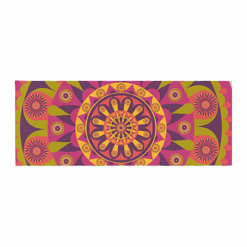 "afe images ""Mandala Design"" Multicolor Modern Ethnic Digital Illustration Bed Runner"