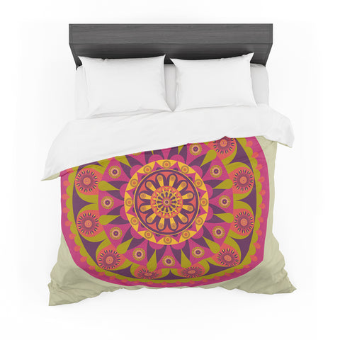 "afe images ""Mandala Design"" Multicolor Modern Ethnic Digital Illustration Featherweight Duvet Cover"