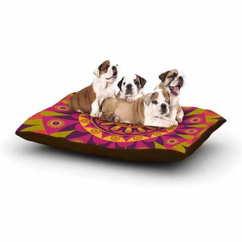 "afe images ""Mandala Design"" Multicolor Modern Ethnic Digital Illustration Dog Bed"