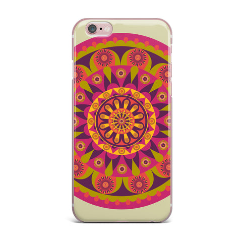 "afe images ""Mandala Design"" Multicolor Modern Ethnic Digital Illustration iPhone Case"