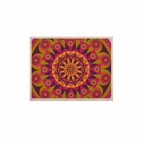 "afe images ""Mandala Design"" Multicolor Modern Ethnic Digital Illustration KESS Naturals Canvas (Frame not Included)"