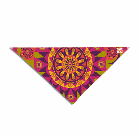 "afe images ""Mandala Design"" Multicolor Modern Ethnic Digital Illustration Pet Bandana"