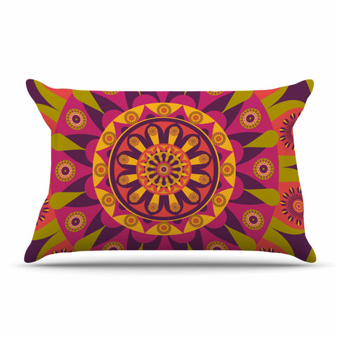 "afe images ""Mandala Design"" Multicolor Modern Ethnic Digital Illustration Pillow Sham"