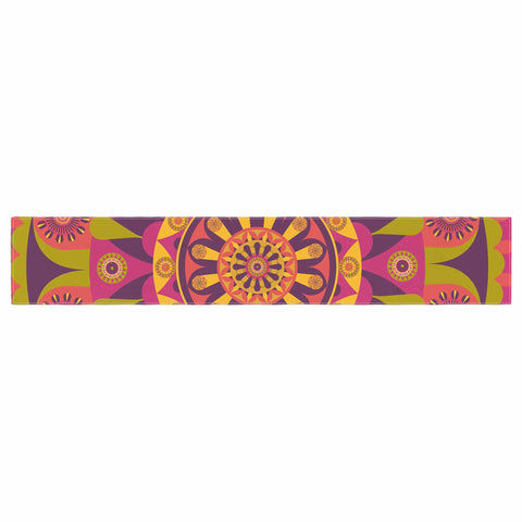 "afe images ""Mandala Design"" Multicolor Modern Ethnic Digital Illustration Table Runner"