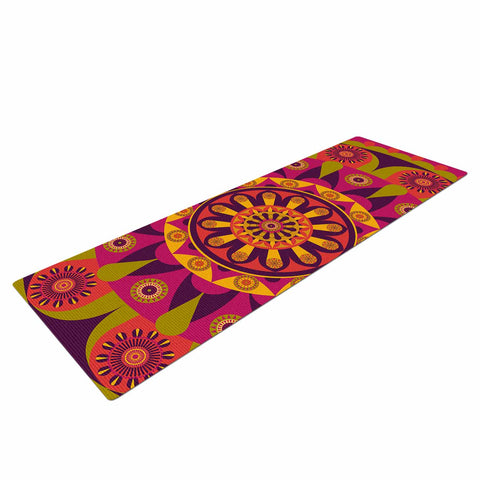"afe images ""Mandala Design"" Multicolor Modern Ethnic Digital Illustration Yoga Mat"