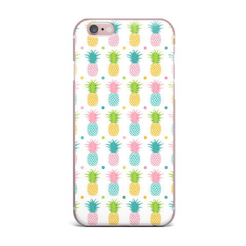 "afe images ""Pineapple Pattern"" Multicolor Pattern Food Digital Illustration iPhone Case"