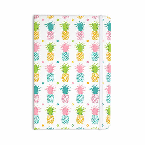 "afe images ""Pineapple Pattern"" Multicolor Pattern Food Digital Illustration Everything Notebook"