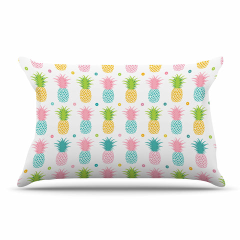 "afe images ""Pineapple Pattern"" Multicolor Pattern Food Digital Illustration Pillow Sham"