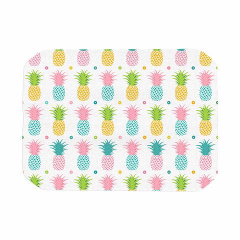 "afe images ""Pineapple Pattern"" Multicolor Pattern Food Digital Illustration Place Mat"