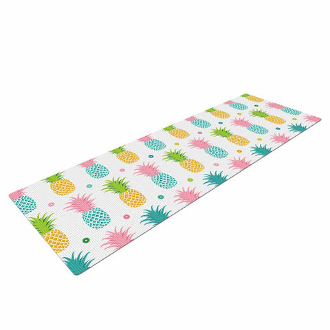 "afe images ""Pineapple Pattern"" Multicolor Pattern Food Digital Illustration Yoga Mat"