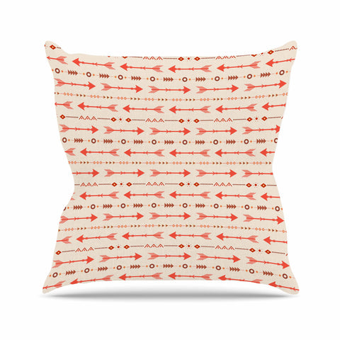 "afe images ""Tribal Arrows2"" Orange Brown Tribal Pattern Illustration Digital Outdoor Throw Pillow"