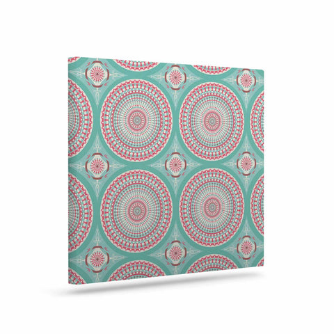 "afe images ""Mandala Pattern2"" Green Multicolor Ethnic Pattern Illustration Digital Art Canvas"
