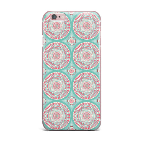"afe images ""Mandala Pattern2"" Green Multicolor Ethnic Pattern Illustration Digital iPhone Case"