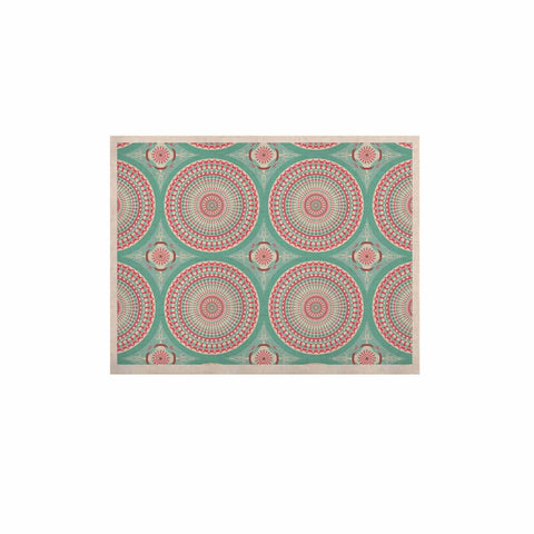 "afe images ""Mandala Pattern2"" Green Multicolor Ethnic Pattern Illustration Digital KESS Naturals Canvas (Frame not Included)"