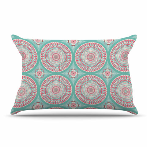 "afe images ""Mandala Pattern2"" Green Multicolor Ethnic Pattern Illustration Digital Pillow Sham"