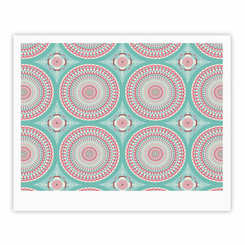 "afe images ""Mandala Pattern2"" Green Multicolor Ethnic Pattern Illustration Digital Fine Art Gallery Print"