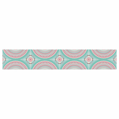"afe images ""Mandala Pattern2"" Green Multicolor Ethnic Pattern Illustration Digital Table Runner"