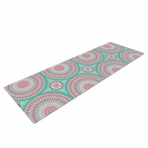 "afe images ""Mandala Pattern2"" Green Multicolor Ethnic Pattern Illustration Digital Yoga Mat"
