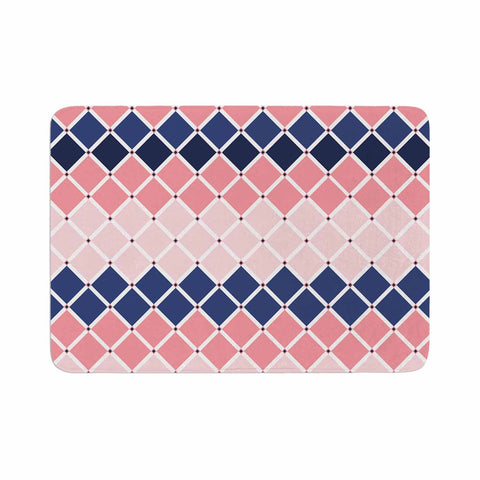 "afe images ""Diamond Tiles"" Pink Blue Diamond Pattern Illustration Digital Memory Foam Bath Mat"
