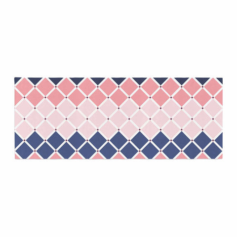 "afe images ""Diamond Tiles"" Pink Blue Diamond Pattern Illustration Digital Bed Runner"