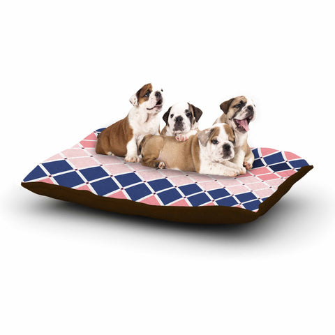 "afe images ""Diamond Tiles"" Pink Blue Diamond Pattern Illustration Digital Dog Bed"