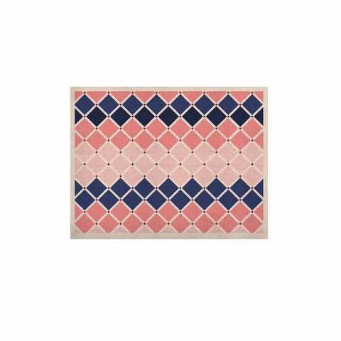 "afe images ""Diamond Tiles"" Pink Blue Diamond Pattern Illustration Digital KESS Naturals Canvas (Frame not Included)"