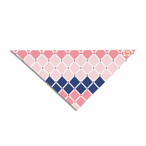 "Afe images ""Diamond Tiles"" Pink Blue Diamond Pattern Illustration Digital Pet Bandana"