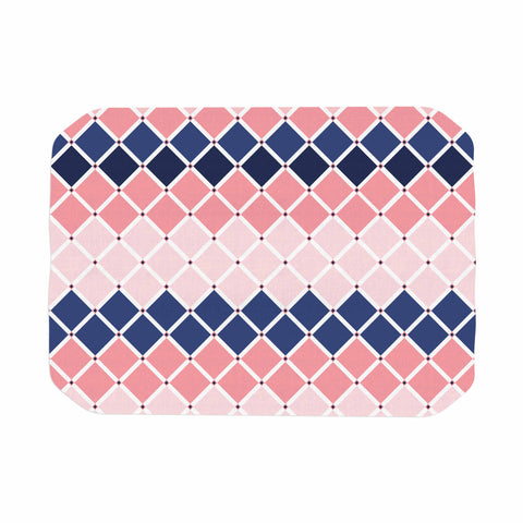"afe images ""Diamond Tiles"" Pink Blue Diamond Pattern Illustration Digital Place Mat"