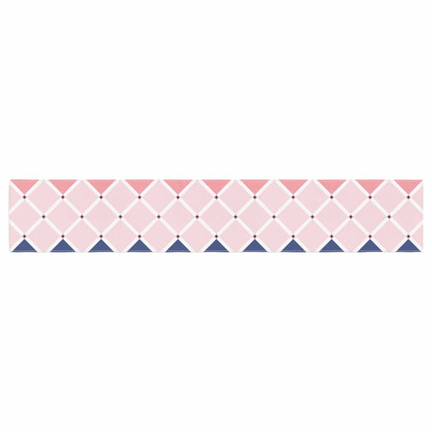 "afe images ""Diamond Tiles"" Pink Blue Diamond Pattern Illustration Digital Table Runner"