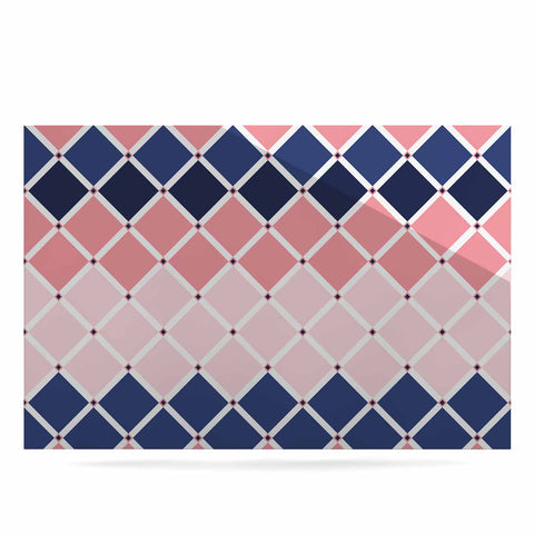"afe images ""Diamond Tiles"" Pink Blue Diamond Pattern Illustration Digital Luxe Rectangle Panel"