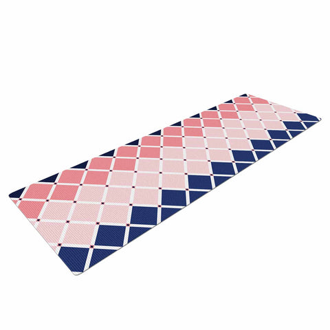 "afe images ""Diamond Tiles"" Pink Blue Diamond Pattern Illustration Digital Yoga Mat"