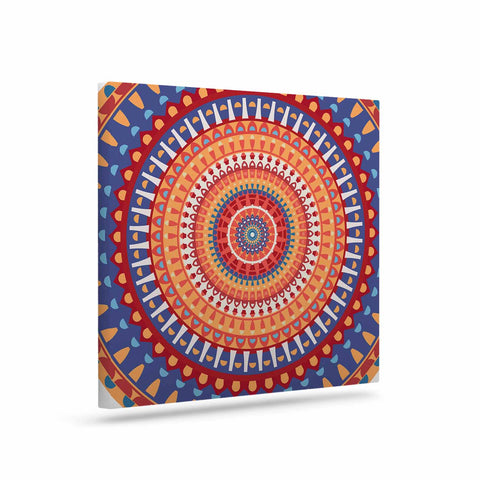 "afe images ""AFE Mandala4"" Multicolor Ethnic Abstract Illustration Digital Art Canvas"