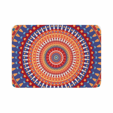 "afe images ""AFE Mandala4"" Multicolor Ethnic Abstract Illustration Digital Memory Foam Bath Mat"