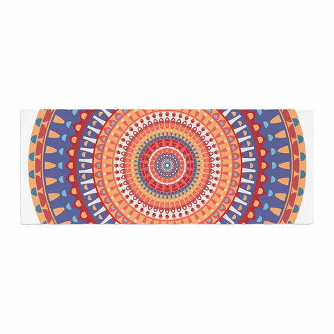 "afe images ""AFE Mandala4"" Multicolor Ethnic Abstract Illustration Digital Bed Runner"