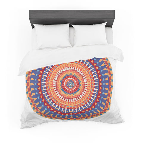 "afe images ""AFE Mandala4"" Multicolor Ethnic Abstract Illustration Digital Featherweight Duvet Cover"