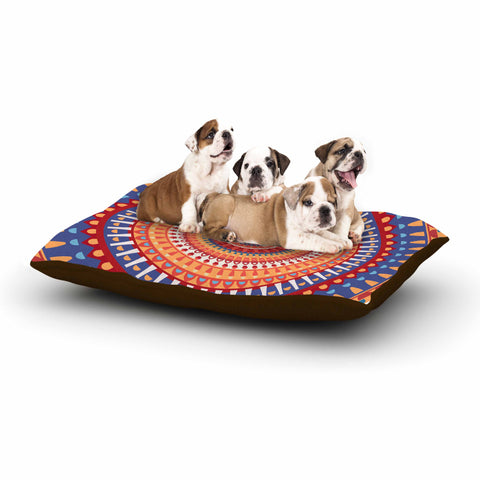 "afe images ""AFE Mandala4"" Multicolor Ethnic Abstract Illustration Digital Dog Bed"
