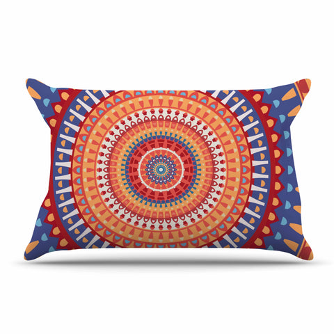 "afe images ""AFE Mandala4"" Multicolor Ethnic Abstract Illustration Digital Pillow Sham"