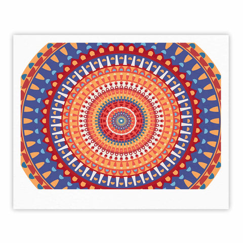 "afe images ""AFE Mandala4"" Multicolor Ethnic Abstract Illustration Digital Fine Art Gallery Print"