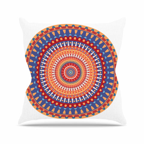 "afe images ""AFE Mandala4"" Multicolor Ethnic Abstract Illustration Digital Throw Pillow"
