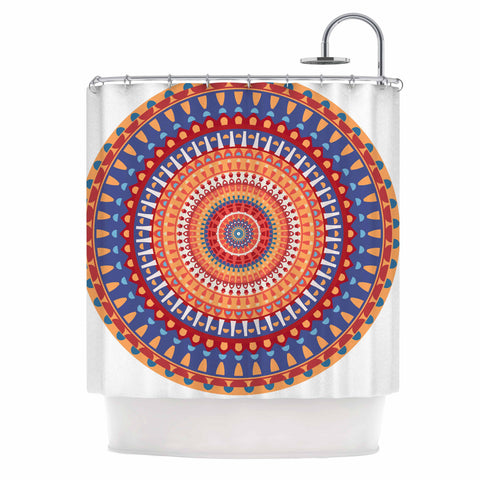"afe images ""AFE Mandala4"" Multicolor Ethnic Abstract Illustration Digital Shower Curtain"
