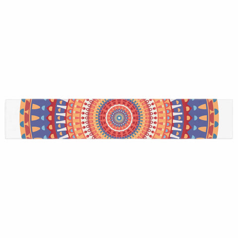 "afe images ""AFE Mandala4"" Multicolor Ethnic Abstract Illustration Digital Table Runner"