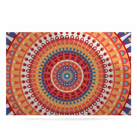 "afe images ""AFE Mandala4"" Multicolor Ethnic Abstract Illustration Digital Luxe Rectangle Panel"