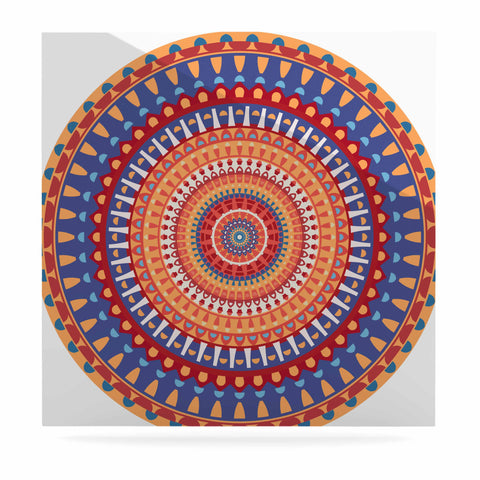 "afe images ""AFE Mandala4"" Multicolor Ethnic Abstract Illustration Digital Luxe Square Panel"