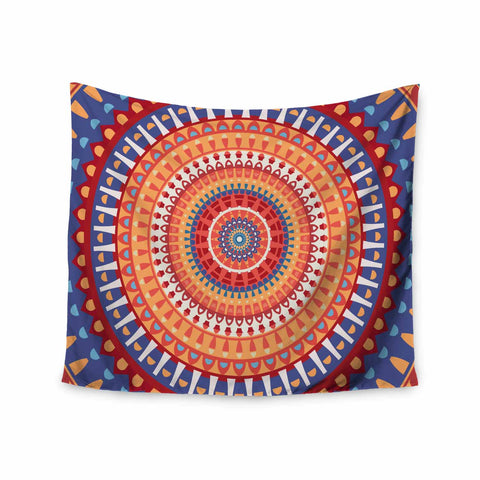 "afe images ""AFE Mandala4"" Multicolor Ethnic Abstract Illustration Digital Wall Tapestry"
