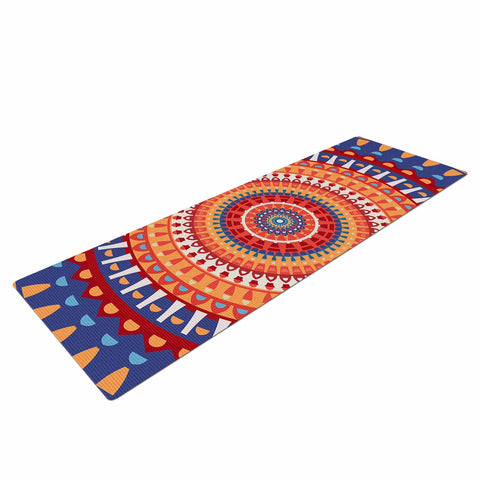 "afe images ""AFE Mandala4"" Multicolor Ethnic Abstract Illustration Digital Yoga Mat"