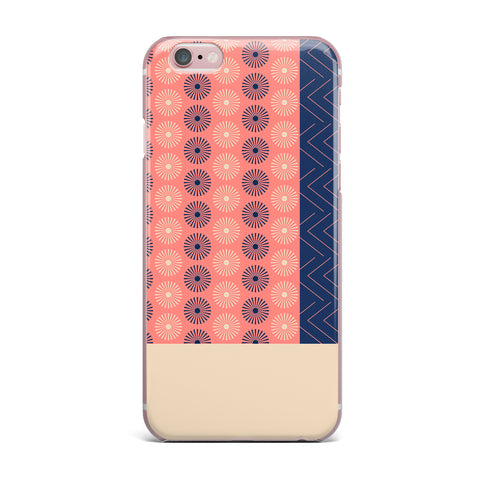 "afe images ""AFE Geometric Abstract"" Blue Coral Abstract Pattern Digital Illustration iPhone Case"