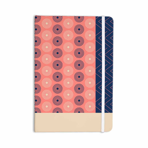 "afe images ""AFE Geometric Abstract"" Blue Coral Abstract Pattern Digital Illustration Everything Notebook"