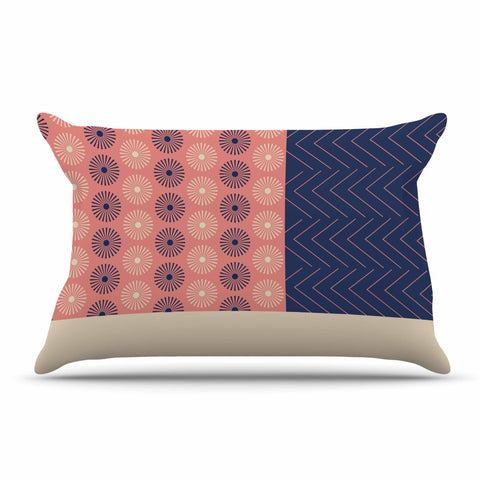 "afe images ""AFE Geometric Abstract"" Blue Coral Abstract Pattern Digital Illustration Pillow Sham"