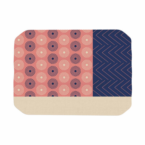 "afe images ""AFE Geometric Abstract"" Blue Coral Abstract Pattern Digital Illustration Place Mat"